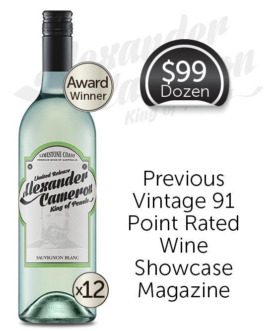 Alexander Cameron Limestone Coast Sauvignon Blanc 2020 Dozen