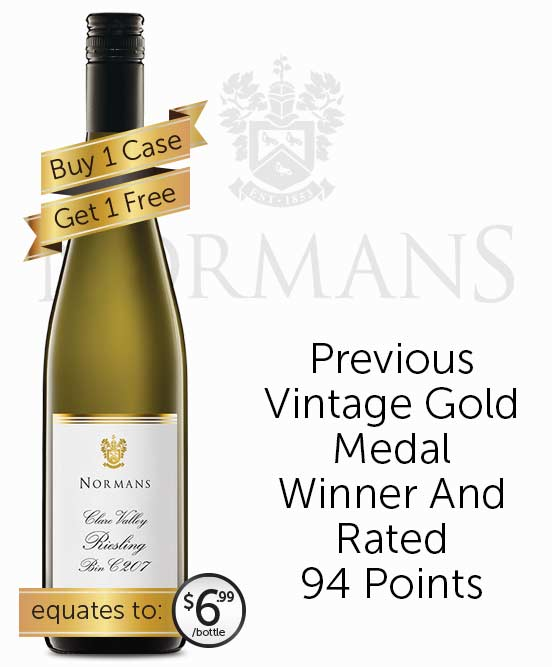 Normans Bin C207 Clare Valley Riesling 2017