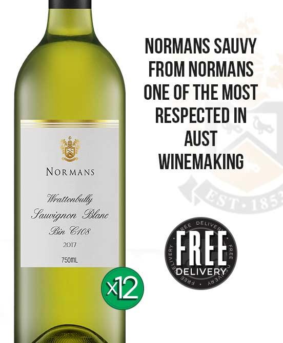 Normans Bin C108 Wrattonbully Sauvignon Blanc 2017 Dozen
