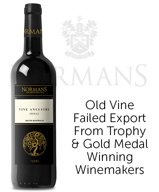 Normans Estate Est 1853 Vine Ancestry Shiraz 2019
