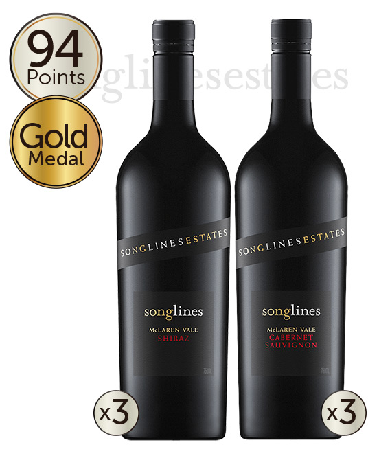 Songlines Estates Basket Pressed McLaren Vale Mixed 6pack