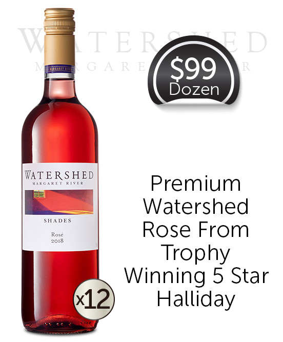 Watershed Shades Margaret River Rose 2018 Dozen