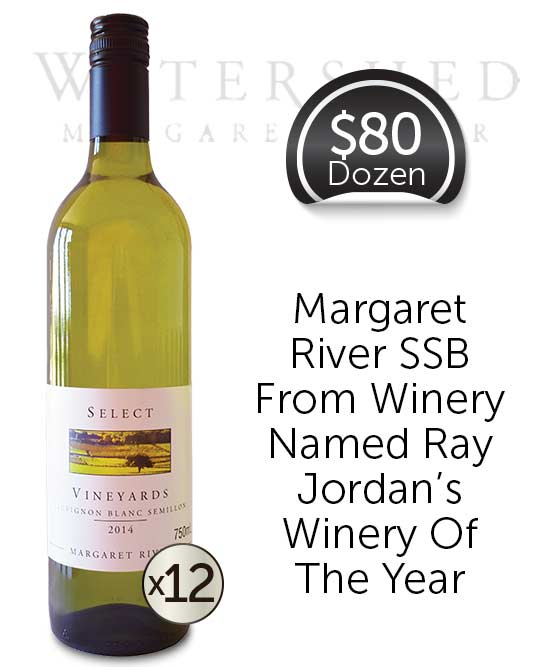 Watershed Select Vineyards Margaret River Sauvignon Blanc Semillon 2014 Dozen