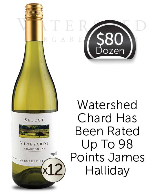 Watershed Select Vineyards Margaret River Chardonnay 2018 Dozen