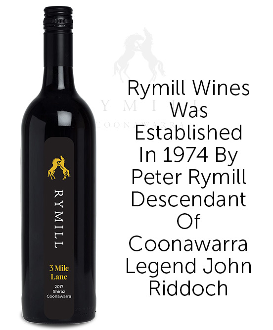 Rymill 3 Mile Lane Coonawarra Shiraz 2017