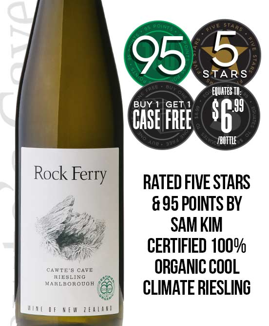 Rock Ferry Cawtes Cave Organic Central Otago Riesling 2014