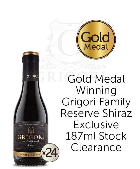 Grigori McLaren Vale Shiraz 2016 24x187ml Bottles