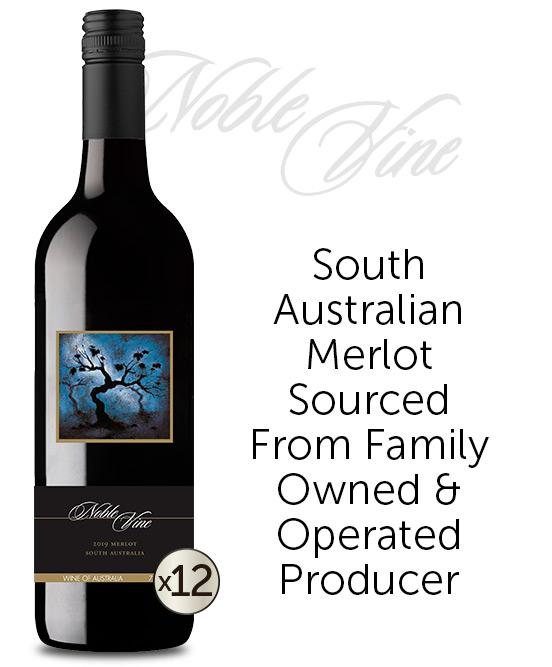 Noble Vine South Australia Merlot 2019 Dozen