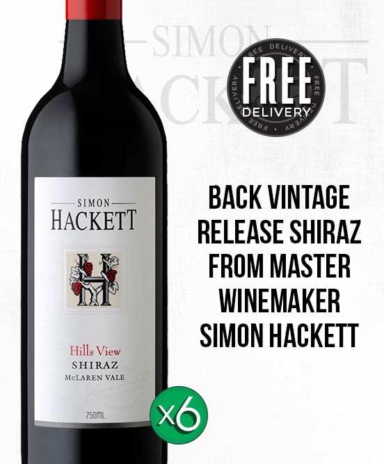 Simon Hackett Hills View McLaren Vale Shiraz 2015 6pack