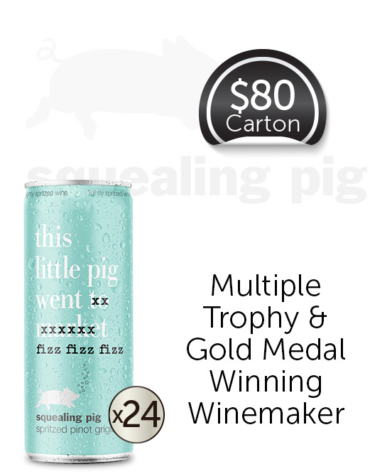 Squealing Pig Spritz Pinot Grigio Cans 24x250ml