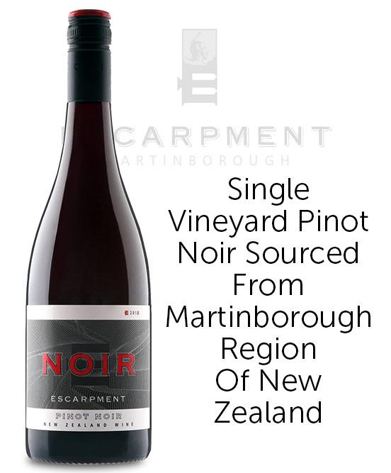 Escarpment Artisan Wines Noir Martinborough Pinot Noir 2018