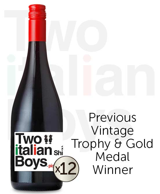 Two Italian Boys Shiraz 2019 Dozen