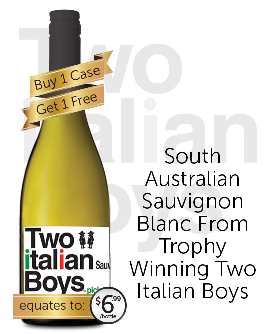 Two Italian Boys Sauvignon Blanc 2019