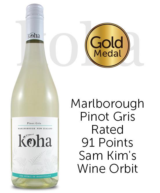 Koha Marlborough Pinot Gris 2018