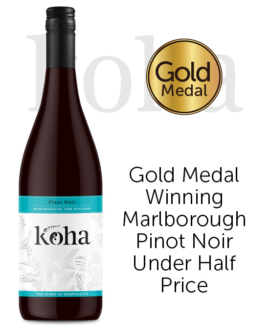Koha Marlborough Pinot Noir 2018