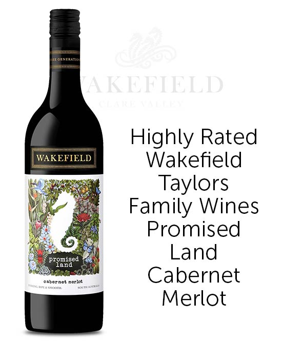 Wakefield Taylors Family Wines Promised Land South Australia Cabernet Merlot 2017