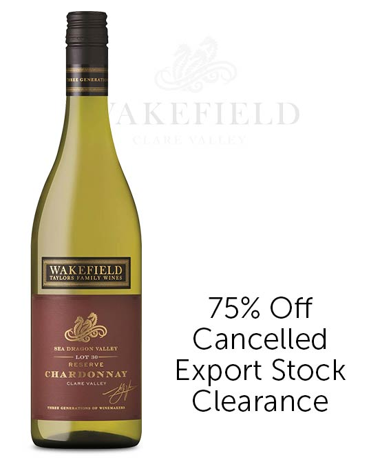 Wakefield Taylors Family Wines Sea Dragon Valley Reserve Clare Valley Chardonnay 2017