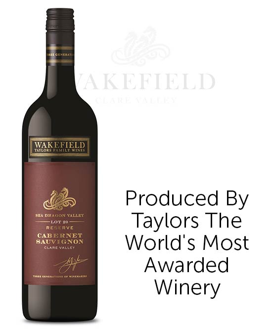 Wakefield Taylors Family Wines Sea Dragon Valley Reserve Clare Valley Cabernet Sauvignon 2017