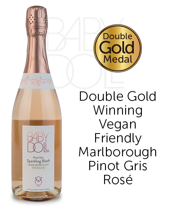 Baby Doll Marlborough Pinot Gris Sparkling Blush Nv