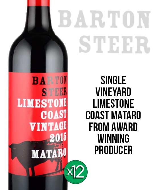 Barton Steer Limestone Coast Mataro 2015 Dozen