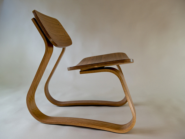 Flex Chair by Ben Percy - Chair, Spotted Gum, New Guinea Walnut