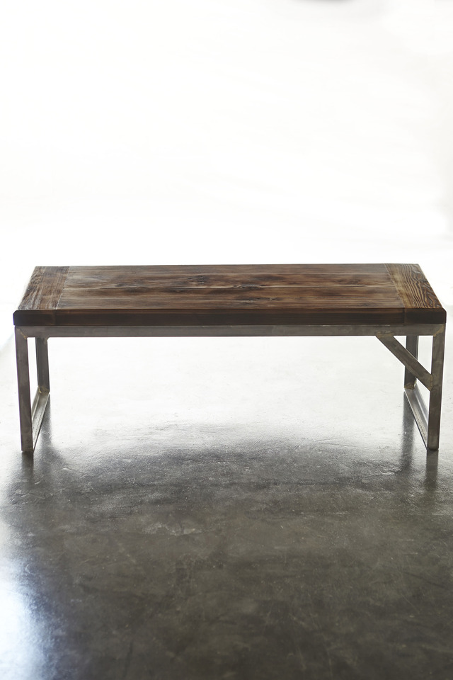 Douglas Fir Coffee Table by Sankhara Co - Douglas Fir, Oregan, Steel, Coffee Table, Raw, Recycled, Reclaimed