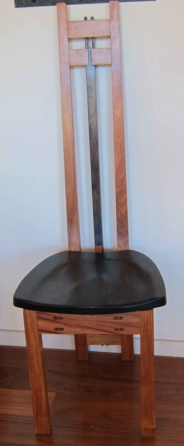 Set of 6 Dining chairs by Michael Zolotarev - New Guinea Rosewood, Dining Chair