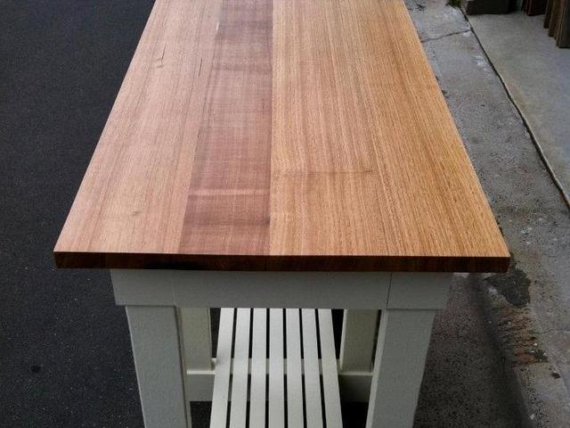 High Bench Table by Josh Pinkus - High Table, Cafe Table, Bench, Tasmanian Oak