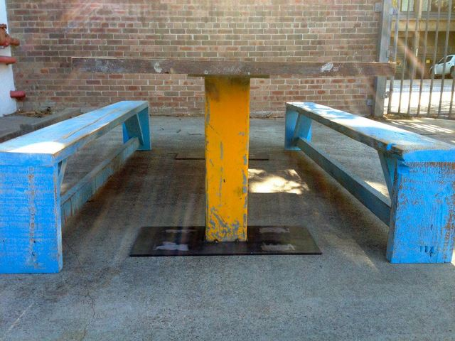 Industrial Table by Josh Pinkus - Table, Industrial, Bench
