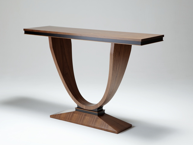 Art Deco Foyer Furniture : Walnut hall table by nick bailey handkrafted