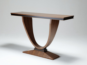 Walnut Hall Table by Nick Bailey - Art Deco, American Walnut