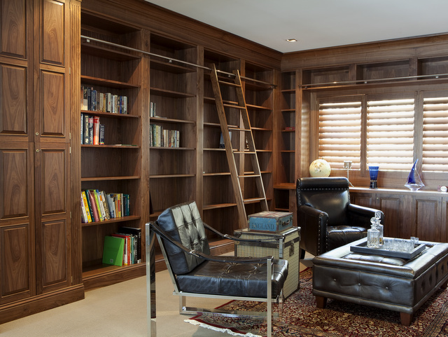 Walnut Built In Library By Nick Bailey Handkrafted