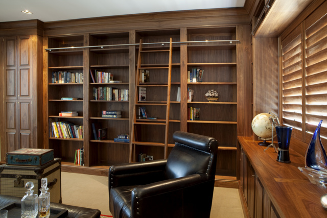 Walnut Built in Library by Nick Bailey - Library, American Walnut
