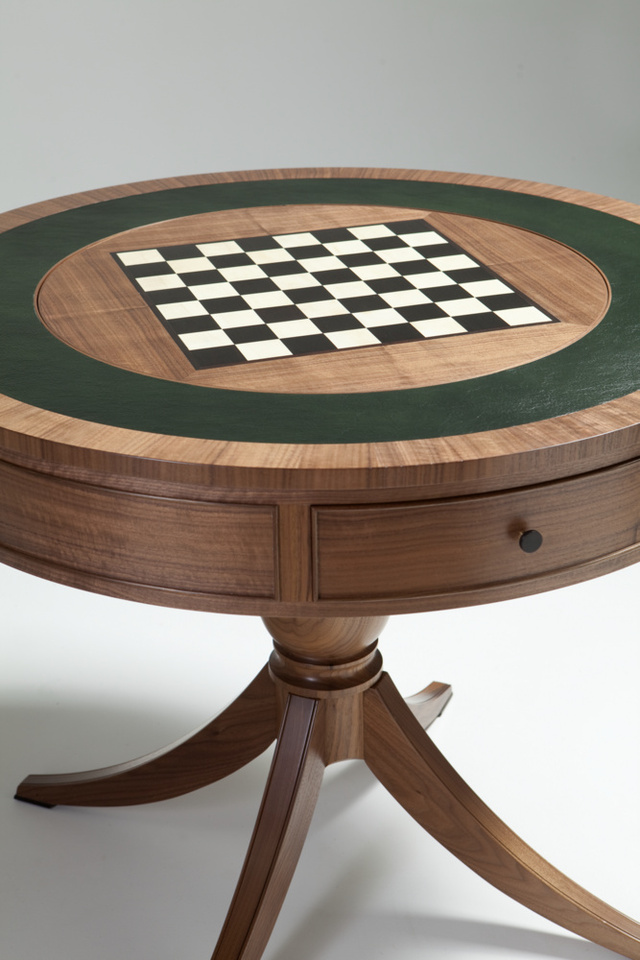 American Walnut Games Table by Nick Bailey - Games Table, American Walnut, Tasmanian Cheesewood, Ancient Redgum