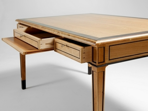 Writing Desk by Nick Bailey - Writing Desk, Cherry Wood, Macassar Ebony Cross, Murray River Redgum