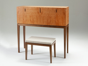 Andy's Desk by Nick Bailey - Writing Desk, American Walnut, Amboyna Burl, Queensland Maple, Maple Silkwood