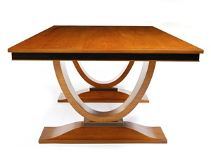 Cherry Art Deco Table with Ancient Redgum by Nick Bailey - Table, Cherry Wood, Redgum, Art Deco