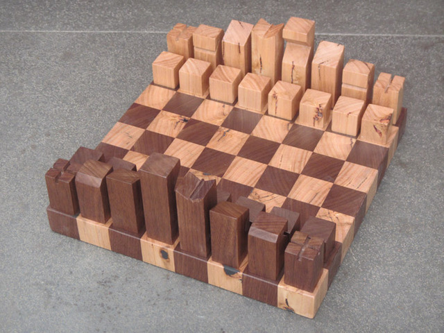 Chess Board by Tescher Forge - Chess Board, Games, Victorian Ash, American Walnut