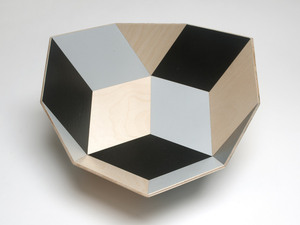 Tegl Bowl by Eco wood design - Fruit Bowl, Salad Bowl, Tiles, Birch Ply, Contemporary, Geometric, Colourful, Unique