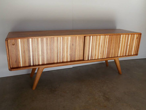 """Scrappy V2"" Credenza by Aidan Morris - Credenza, Storage, Sideboard, Entertainment Unit, New Guinea Rosewood"