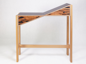 S(l)ide Table by Eco wood design - Side Table, Whimsy, Unique, Angular, Contemporary, Hall Table