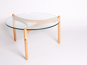 TRI Table by Aidan Morris - Coffee Table, Huon Pine, Timber, Glass