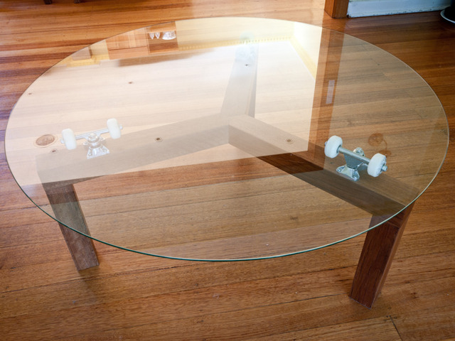 Delicieux Lazy Susan Skate Table By Chris Wann   Blackbutt, Skate Table, Lazy Susan