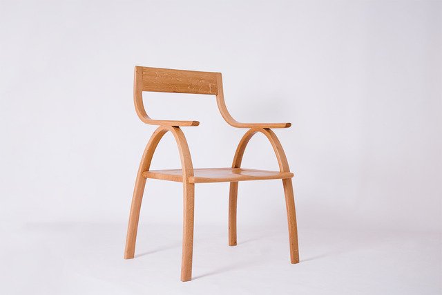 Layla Chair. by Maeker Studio - Chair, Oak, French Hottie, Bespoke, Bent, Handmade, Solid Timber, Hand Carved