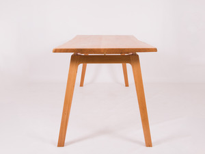 Delilah by Spencer Parks - Oak, Table, Brass, Scandinavian, Timber Slab, Natural Edge, Danish Oil