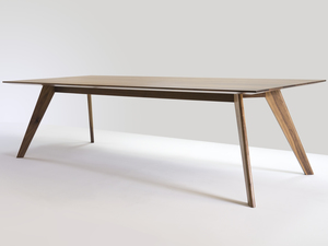 Vista St Dining Table by Nathan Day Design - Dining Table, Midcentury Modern, Solid Timber, Short Lead Time, Custom Furniture, Boardroom Table, Made To Order, Walnut, Legroom, Black