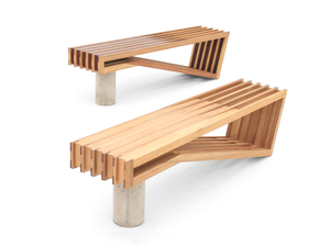 Pinch Bench by Sawdust Bureau - Coffee Table, Bench, Seating, Jarrah, Vic Ash