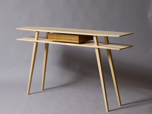 Side Table  by Sam  James  - American White Ash, Zebra Wood, SJD Furniture