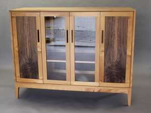 China Cabinet by Sam  James  - China Cabinet, Kauri, American Walnut