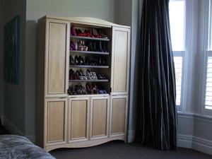 Shoe Wardrobe  by Sam  James  - American White Ash, Shoe Storage, SJD Furniture
